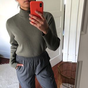 Chico's Green Turtleneck Sweater